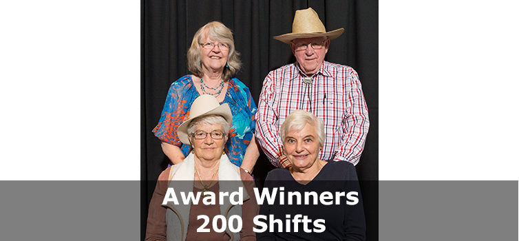 Award Winners 200 shifts