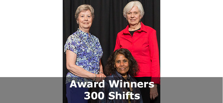 Award Winners 300 shifts